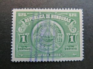 A4P11F18 Honduras Air Post Stamp 1943 1c used