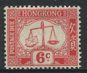 Hong Kong - Scott J8 - Postage Due Issue -1938 - MLH - Single 6c Stamps