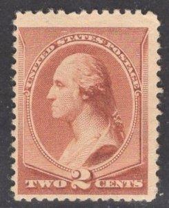 US Stamp #210 2c Red Brown Washington MINT Hinged SCV $45.00