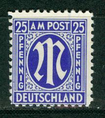 Germany AM Post Scott # 3N13a, mint nh, variation