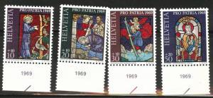 Switzerland Scott B382-385 MH* 1969 semipostal set