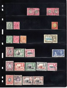UGANDA AND MORE 2 STOCK PAGES COLLECTION LOT 38 STAMPS $$$$$$$