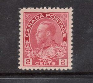 Canada #106ix VF/NH With Strong Hairlines **With Certificate**