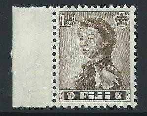 Fiji  QE II SG 300  MUH margin hinged