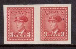 Canada #251b XF Mint Imperf Pair