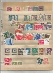 BULGARIA COLLECTION ON STOCK SHEET, MINT.USED
