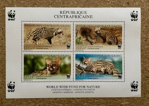 Stamps Minisheet WWF Savages Animals Civet Central Africa 2007 Perf.
