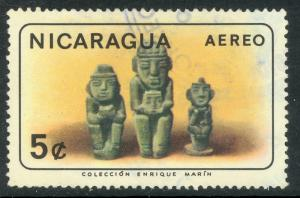 NICARAGUA 1965 5c Antique Indian Artifacts Airmail Issue Sc C563 VFU