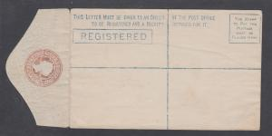 Ceylon H&G C1, mint. 1880 12c pink, oxydized QV Registration Envelope