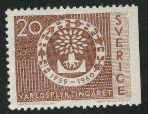 SWEDEN Scott 555 MH* 1960 WRY stamp