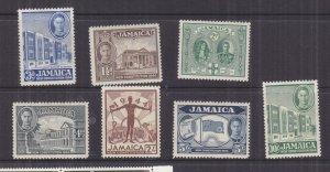 JAMAICA, 1945 New Constitution set of 7, lhm.