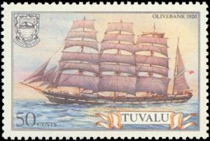 Tuvalu #151-156, Complete Set(6), 1981, Ships, Never Hinged