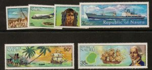 NAURU SG116/21 1974 175th ANNIV OF FIRST CONTACT WITH THE OUTSIDE WORLD MNH