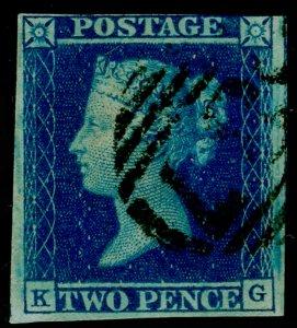 SG15, 2d deep full blue, USED. Cat £110. KG