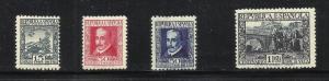 Spain 1935 Scott# 552-55 MH