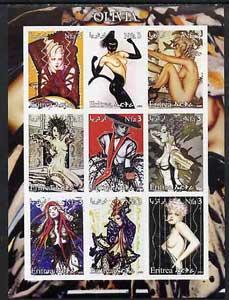 Eritrea 2002 Fantasy Art of Olivia imperf sheetlet contai...