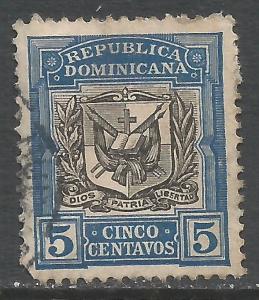 DOMINICAN REPUBLIC 175 VFU ARMS I136-7