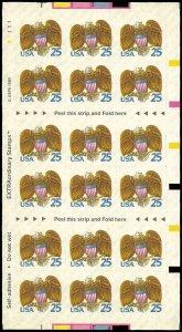PCBstamps  US #2431a Bk Pane $4.50(18x25c)Eagle & Shield, 1989, MNH, (1)