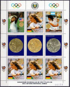 Paraguay. 1989. 4298-02 Small sheet 4302. Sports OI. MNH.