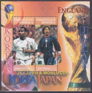 2003 Dominica 3432-33/B477 2002 FIFA World Cup in Japan and Korea