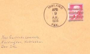 United States Texas Ireland 1956 4f-bar  1911-1967  Postcard  Philatelic.