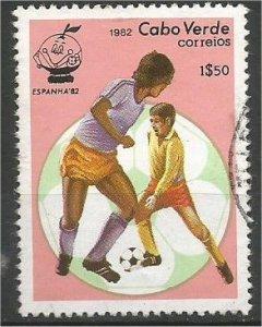 CAPE VERDE, 1982, used 1.50e, Soccer players Scott 446
