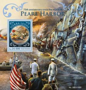 SIERRA LEONE 2016 SHEET PEARL HARBOR SECOND WORLD WAR WWII srl16202b