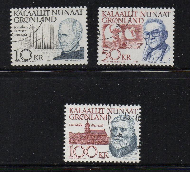 Greenland Sc 242-49 1992-92 High Values stamp set used