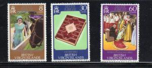 VIRGIN ISLANDS #317-319  1977  QEII 25TH ANNIV.   MINT VF NH O.G