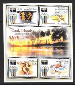 PENRHYN ISLAND SG536a 2000 OLYMPIC GAMES SHEETLET MNH