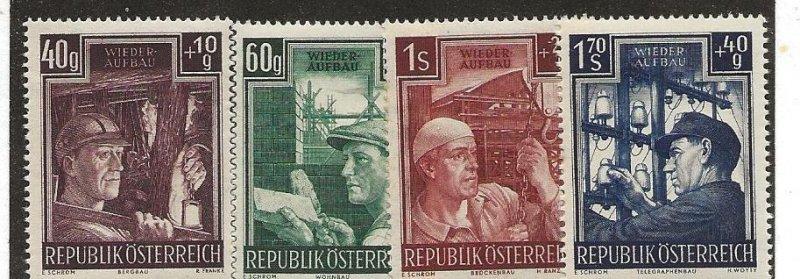 Austria B273-76 Set. Mint Hinged