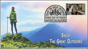 20-108, 2020, Enjoy the Great Outdoors, Pictorial Postmark, First Day Cover, Hik