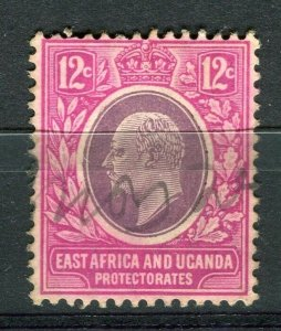 BRITISH KUT; Early 1900s Ed VII postal issue with fiscal cancel on 12c.