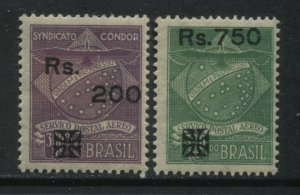 Brazil 1930 Condor Airmail overprints with new values mint o.g. hinged