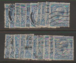 GB George V SG 422 Used -  selection of 20+ for shade study - see details
