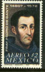 MEXICO C409, 400th Anniv of the death of Fr Pedro de Gante MINT, NH. VF.