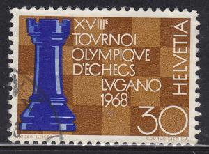 Switzerland 489 Hinged 1968 Chess Olympics