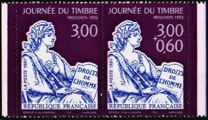 France. 1997 3f (Pair) S.G.3374/3372 Unmounted Mint