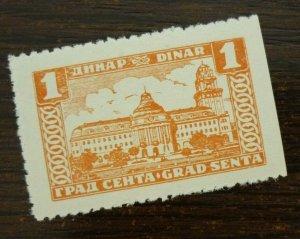 Yugoslavia Serbia SENTA Local Revenue Stamp 1 Dinar  CX37