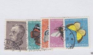 Switzerland #B196 to 200 --    nice cancels used Cat $24