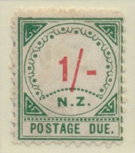 New Zealand Stamp Scott #J10, Unused, No Gum, Toning, Large NZ - Free U.S. ...
