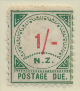 New Zealand Stamp Scott #J10, Unused, No Gum, Toning, Large NZ - Free U.S. ...