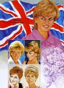 Dominica 1997 Princess Diana Sheet Perforated mnh.vf