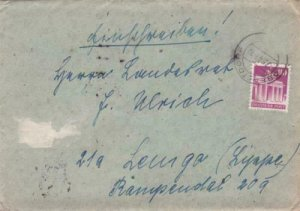 Germany  1949 Oberstdorf  Lemgd  personal  letter R20975