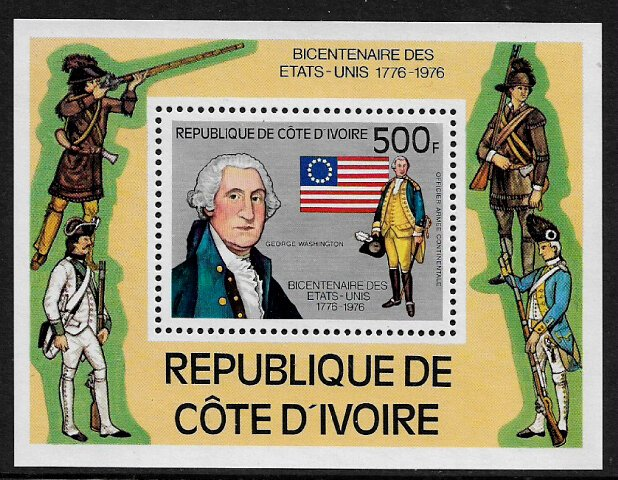 Ivory Coast #426 MNH S/Sheet - American Bicentennial