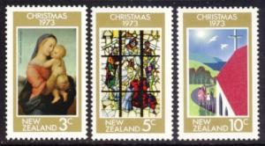 New Zealand Sc# 525-7 MNH Christmas 1973