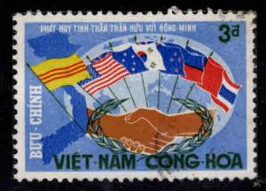 South Vietnam Scott 329 Used Flag stamp