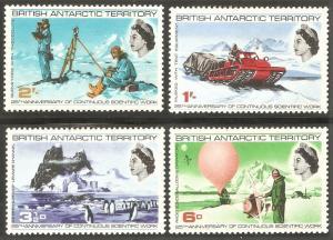 BRITISH ANTARCTIC TERRITORY Sc# 20 - 23 MH FVF Set-4 Iceberg Penguins