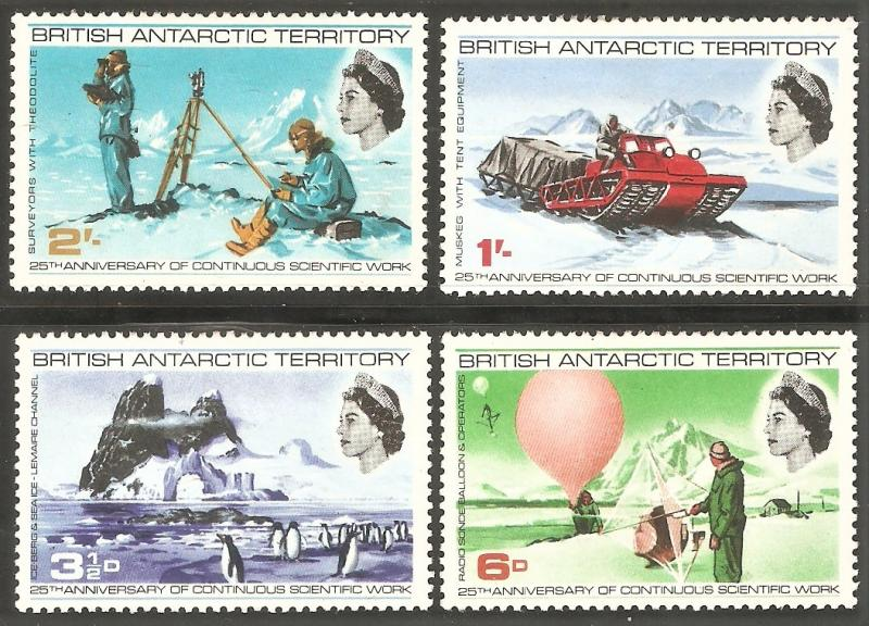 BRITISH ANTARCTIC TERRITORY Sc# 20 - 23 MH FVF Set-4 Iceberg Penguins