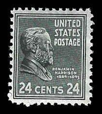 PCBstamps      US # 828 24c B. Harrison, MH, (2)